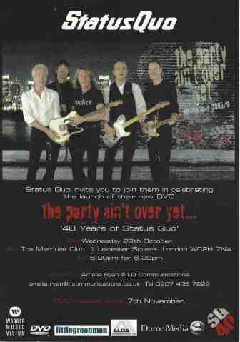 The Party Ain't Over Yet DVD Party Invite B