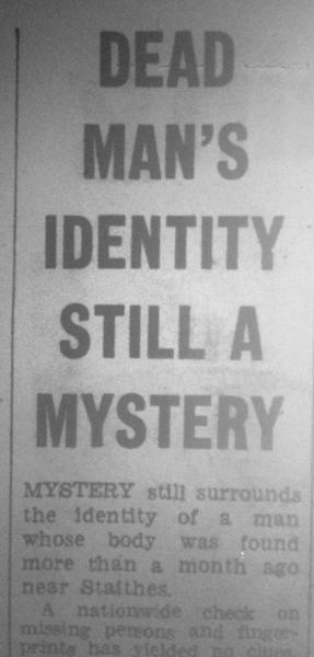 Dead Man's Identity Still A Mystery